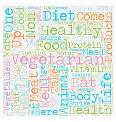 Why Eat Vegetarian text background wordcloud vector