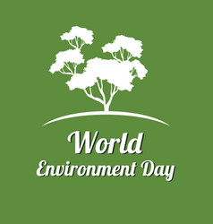 Word environment day background tree vector