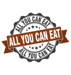 All you can eat stamp sign seal vector