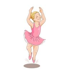 Dancing girl1 vector image