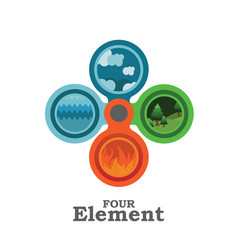 four element vector image vector image