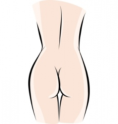 sketch woman back vector image
