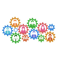 teamwork gears concept background vector image vector image