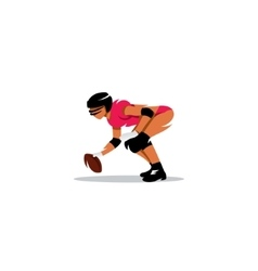 American womans football sign vector image