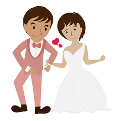 couple wedding 1 vector image
