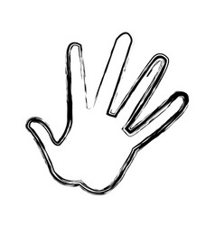 hand showing five fingers high five sign gesture vector image vector image