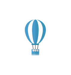 hot air balloon flat icon travel tourism vector image