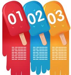 Ice Cream Sweet Info Graphic vector image vector image