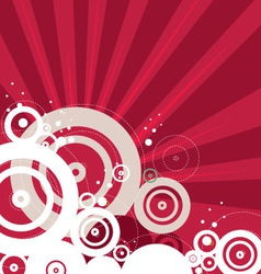 Retro red background vector image