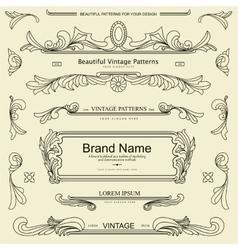 Retro vintage patterns vector image