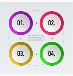 timeline infographics set vector image