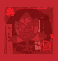 zen oriental background vector image