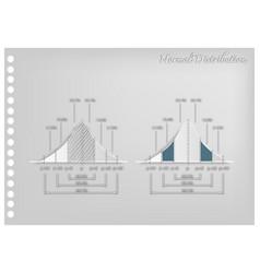 paper art of standard deviation diagram graphs vector image