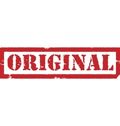 Red stamp original vector image vector image