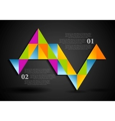 Abstract colorful triangles infographics design vector