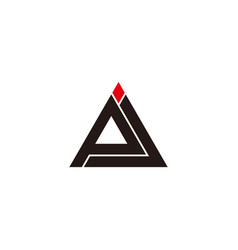 Abstract letter pj triangle line geometric design vector