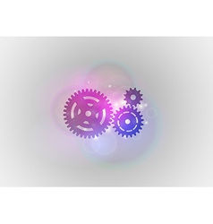 Abstract tech cogwheel vector