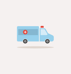 Ambulance color icon with shadow on a white vector