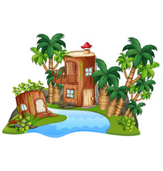 an isolated fantasy house vector image