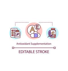 Antioxidant supplementation concept icon vector