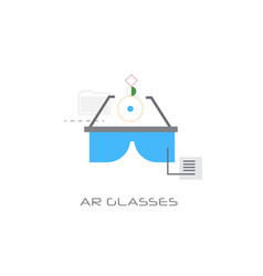 ar glasses augment reality concept digital vector image