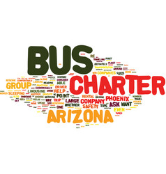 Arizona charter bus rental tips text background vector