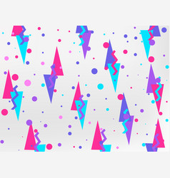 Background with a flat geometric design memphis vector