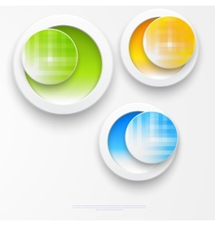 Beautiful color grunge design elements circle vector image