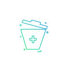 bin trash bucket garbage dust-bin recycle-bin vector image