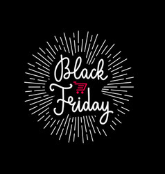 black friday advertising banner design vector image