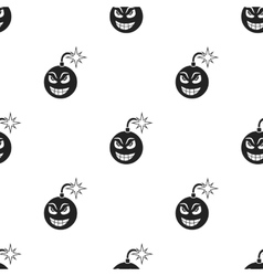 Bomb virus icon in black style isolated on white vector