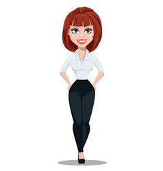 businesswoman cartoon character vector image