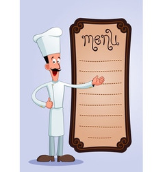 cheff offering menu vector image