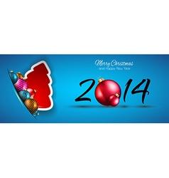 ChristmasBluLONG vector image