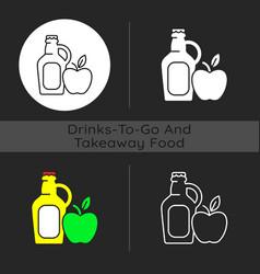 Cider to go dark theme icon vector
