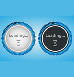 Circular loading in white and black style vector