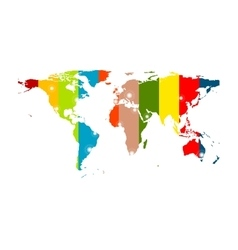 Colorful abstract world map background vector image