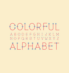 Colorful regular font alphabet vector