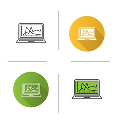 computer diagnostics service icon vector image