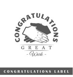 Congratulation label vector