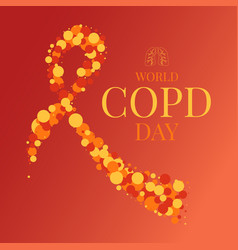 Copd day ribbon poster vector