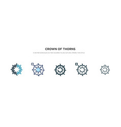 Crown thorns icon in different style two vector