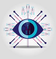 cyber security eye isolated icon vector image