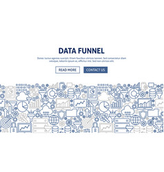 Data funnel banner design vector