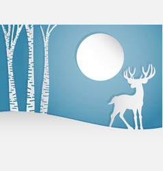 Deer on the hill vector