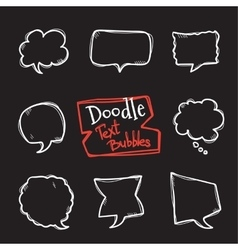 doodle style text bubbles set Cute hand vector image