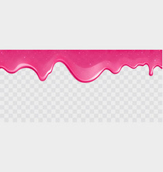 dripping glossy pink slime with glitter vector image