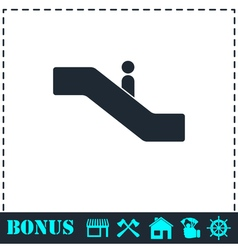 Escalator icon flat vector image