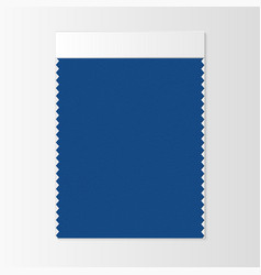 Fabric sample textile swatch template vector