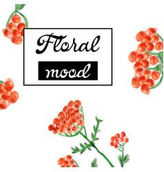 Floral card design garden flower lavender pink vector